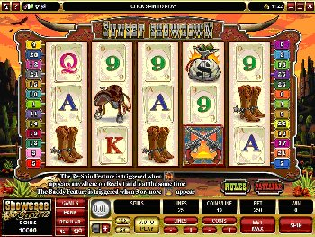 Saddle up at Jackpot City Online Casino for an exciting visit to a time when men were men and cowgirls were mighty purdy and quick on the draw as we explore the thrills and rewards of our latest video slot SUNSET SHOWDOWN.